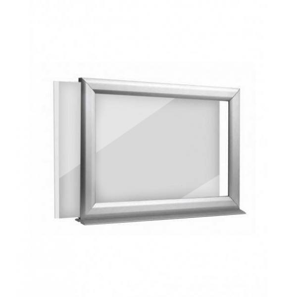 Cadre clic-clac à coller sur vitrine (A4, A3, A2, A1, B2, B1, B0) - recto-verso