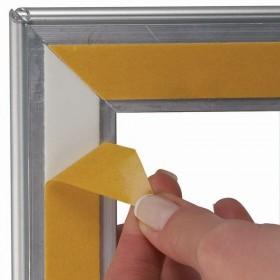 Porte-brochures recto/verso avec fronton