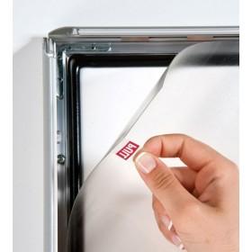 Cadre clic-clac étanche, affiches protégées par une feuille plastique transparente