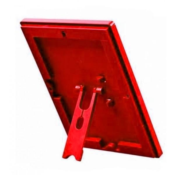 Kliklijst A4, A5 of A6 rood kleurig, met voet