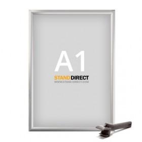 Klapprahmen Safety für öffentliche Plätze - A1 - Eloxiertes Aluminium