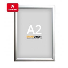 Cadre clic-clac non feu (ignifuge) - Aluminium - A2 (42 x 59,4cm)