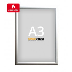 Cadre clic-clac non feu (ignifuge) - Aluminium - A3 (29,7 x 42cm)