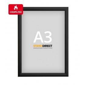 Cadre clic-clac non feu (ignifuge) - Noir - A3 (29,7 x 42cm)