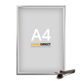 Klapprahmen Safety für öffentliche Plätze - A4 - Eloxiertes Aluminium