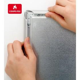 Cadre clic-clac non feu (ignifuge) - Aluminium - A4 (21 x 29,7cm)