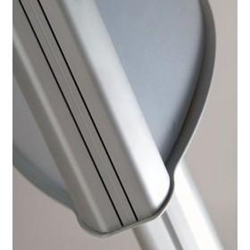 Porte-affiches double face sur pied, structure aluminium
