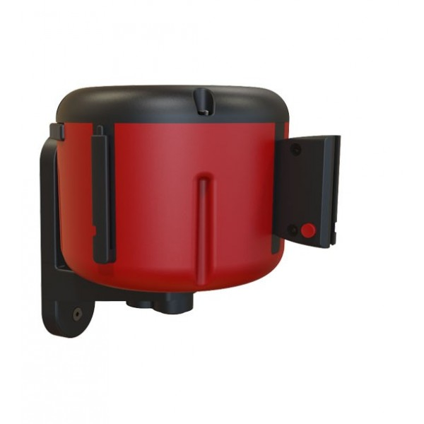 Wandcassette met riem 10m rood