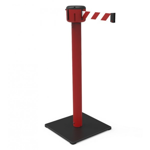 Gurtpfosten rot  für innen - außen mit langem Gurt! (7m oder 10m)