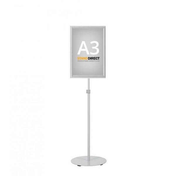 Porte-affiche télescopique économique A3 aluminium