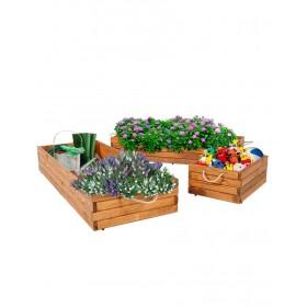 Présentoir en bois / bac à fleurs