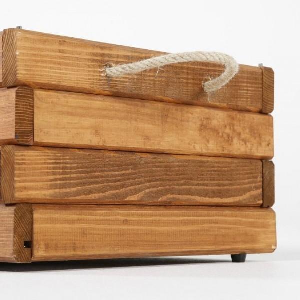 Holzkiste mit 2 Seilgriffe