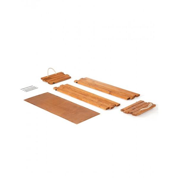 Présentoir en bois / bac à fleurs (Emballage à plat)