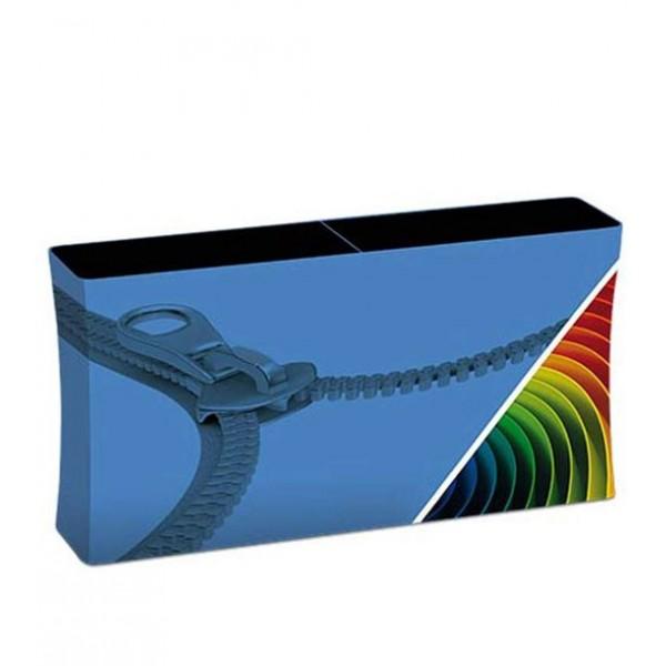 Comptoir expo rectangulaire an aluminium et tissu tendu (2m)