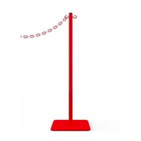 Poteau de signalisation à chaîne