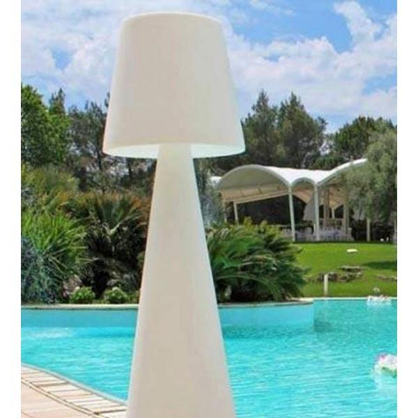 Grand luminaire sur pied (2m) - Pivot, idéal pour abords de piscine