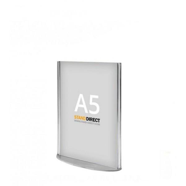 A5 Tischaufsteller (Plexiglas)