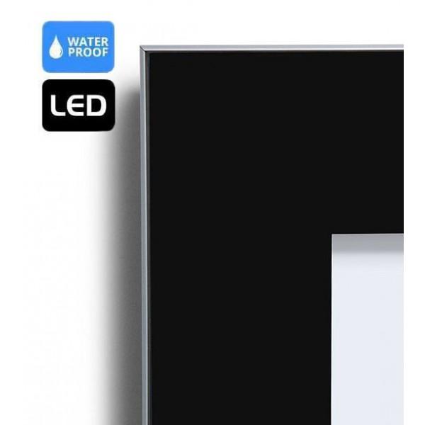 Vitrine d'affichage LED extérieur finition noir