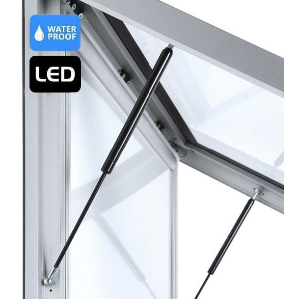 Vitrine d'affichage LED extérieur - ouverture faciale