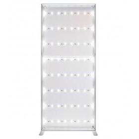 Lichtgevende textielframe - aluminium en stretchstof