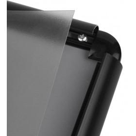 Kliklijst zwart, afgeronde hoeken - B2 (50 x 70,7cm)