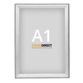 Cadre clic-clac OptiFrame (Aluminium) - A1 (59,4 x 84cm) - Aluminium anodisé