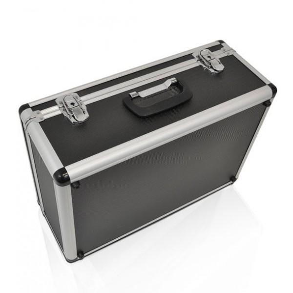 Metallische transportkoffer ideaal voor mobiel gebruik