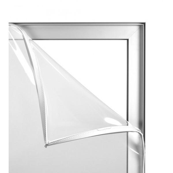 Schutzwand 1mx2m aus Aluminium und transparentem PVC