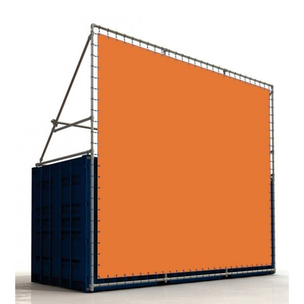 Container Rahmensystem - Werbung