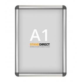 Aluminium Klapprahmen, graue abgerundete Ecken - A1