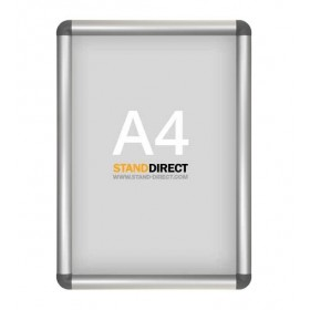Aluminium kliklijst, afgeronde hoeken - A4