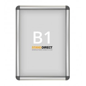 Aluminium kliklijst, afgeronde hoeken - B1 (70,7 x 100cm)