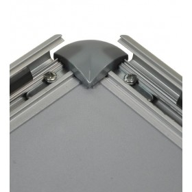 Aluminium kliklijst, afgeronde hoeken - B2 (50 x 70,7cm)