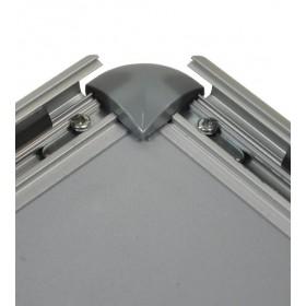 Cadre à clapets aluminium, coins arrondis gris - B2 (50 x 70,7cm)