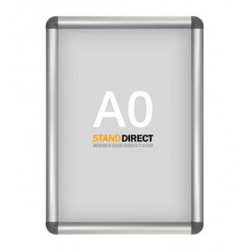 Aluminium Klapprahmen, graue abgerundete Ecken - A0