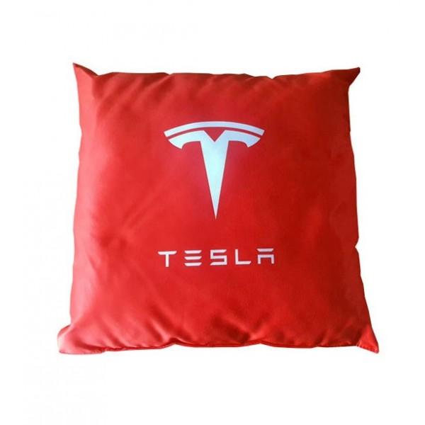 Kussen met Tesla logo