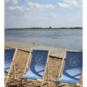 Personalisierter Strandstuhl mit Logo