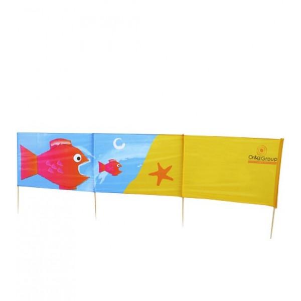 Personalisierter Strand-Windschutz 3m