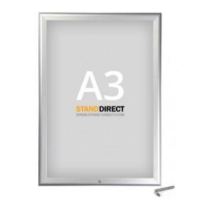 Cadre clic-clac verrouillable - A3 (29,7 x 42cm) - Aluminium anodisé