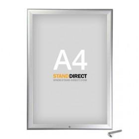 Klapprahmen abschließbar - A4 - Eloxiertes Aluminium
