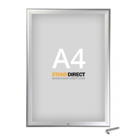 Kliklijst afsluitbaar - Geanodiseerd aluminium - A4