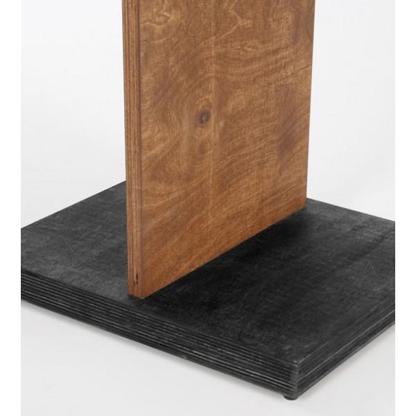 Porte-brochure bois recto-verso, base noire