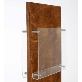 Broschürenhalter Holz Doppelseitig