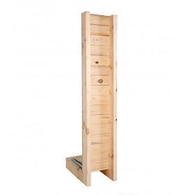 Présentoir à documents grande capacité, finition bois
