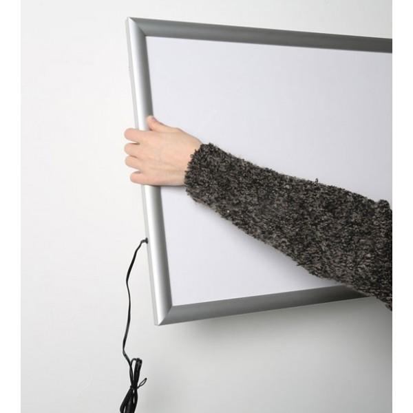 Lichtgevend muur frame, liggend formaat