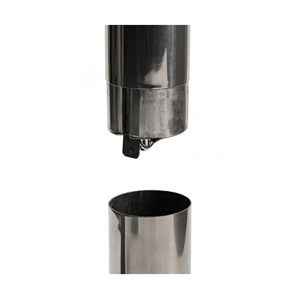 Un cylindre interne de récupération des cendres (sécurisé à clé) permet une nettoyage facile du cendrier.
