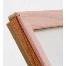 OptiFrame Holzoptik mit abgerundete Ecken