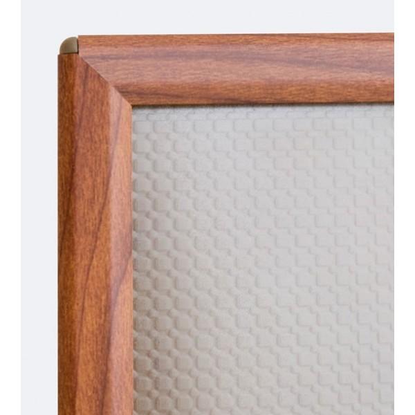 OptiFrame lijst in aluminium, houtafwerking