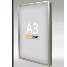 Cadre d'affichage vitrine, profilé 25 ou 32mm - A3 (29,7 x 42cm)