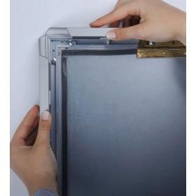 Kliklijst met breed aluminium veiligheidsprofiel (42mm)